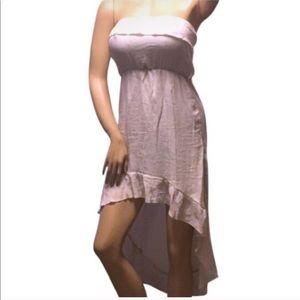 Simple Ruffle Hi Lo Dress